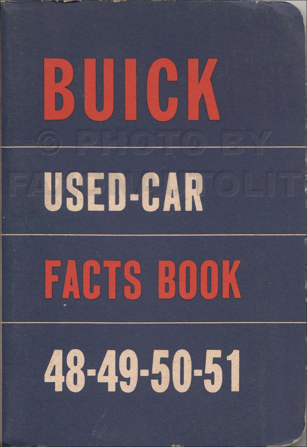 1948-1951 Buick Used Car Facts Book Original