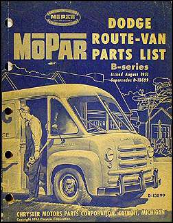 1948-1951 Dodge Route Van Parts Book Original