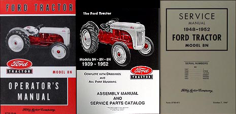 Ford 8N Tractor 3 Manual SET Owner's/Repair/Assembly Reprint
