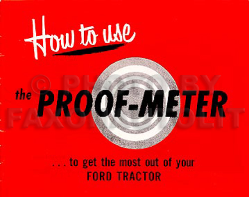1948-1952 Ford 8N Tractor & Proof-Meter Reprint Owner's Manual Set