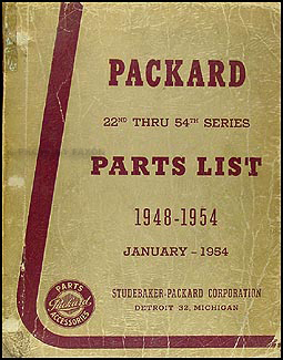 1948-1954 Packard Master Parts Book Original with illustrations