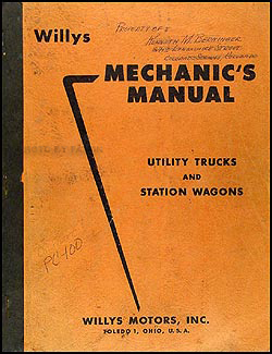 1948-1956 Willys Utility Truck & Station Wagon Repair Manual Original