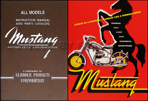 1948-1961 Mustang Motorcycle Manual and Brochure Reprint Set