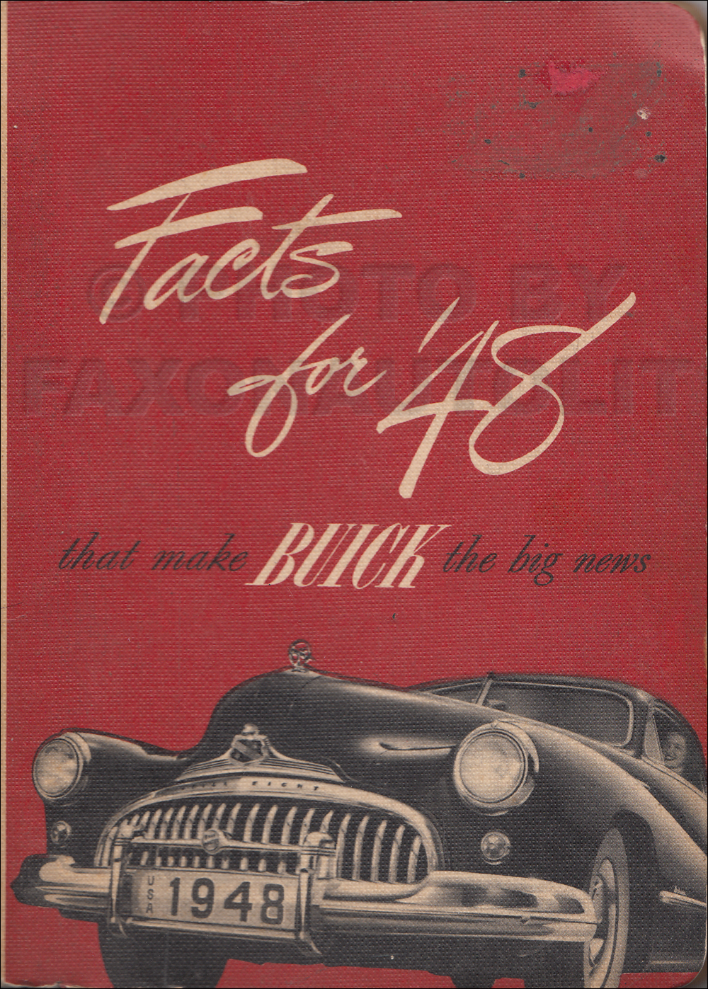 1948 Buick Facts Book Original