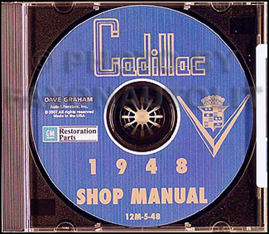 1948 Cadillac Shop Manual on CD-ROM for all models