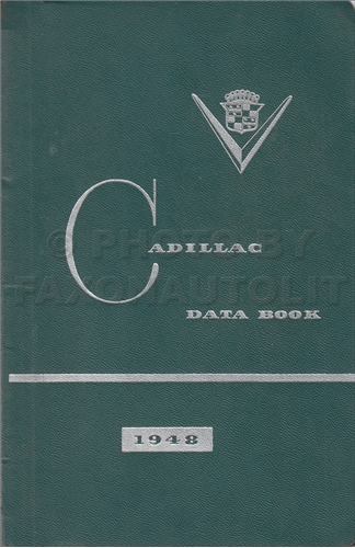 1948 Cadillac Data Book Original