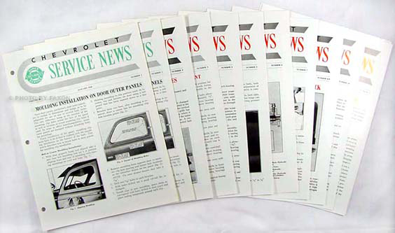 1948 Chevrolet Service News (10 issues) reprint