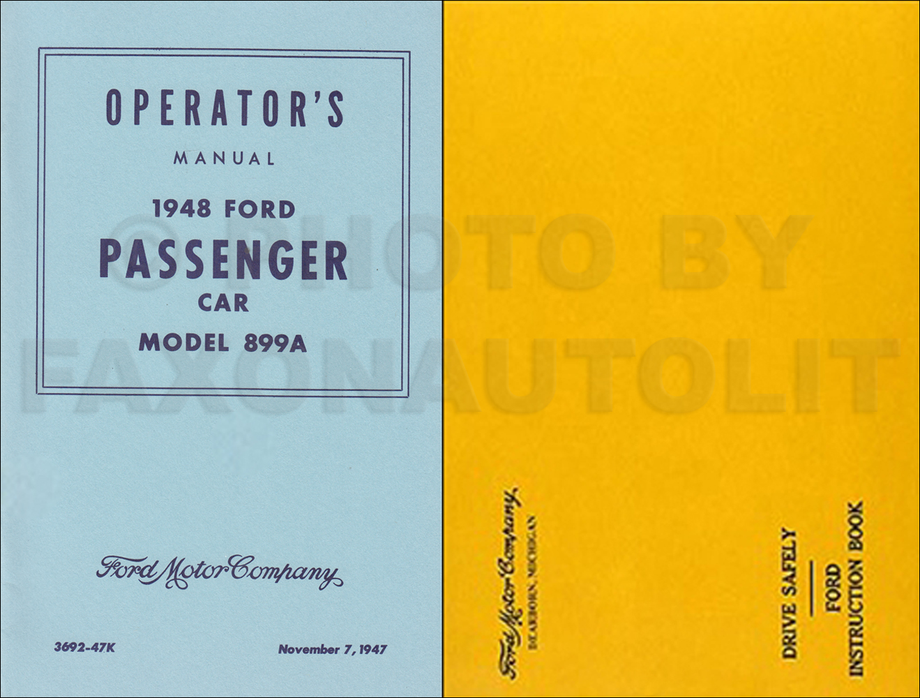 1948 Ford Car Owner's Manual Reprint