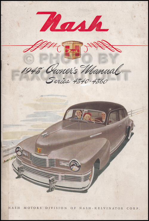 1948 Nash Owner's Manual Original