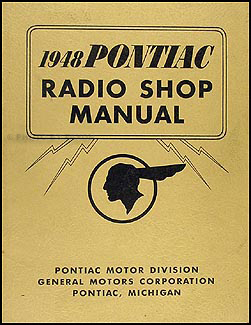 1948 Pontiac Radio Manual Original