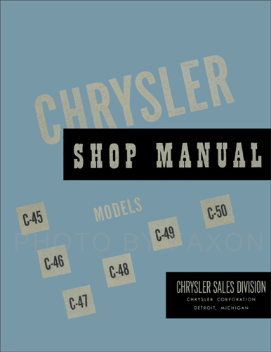 1949-1950 Chrysler Shop Manual Reprint