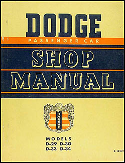 1949-1950 Dodge Car Shop Manual Original