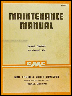 1949-1950 GMC 100-450 Repair Manual Original