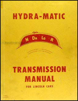 1949-1951 Lincoln Hydra-Matic Transmission Repair Manual Original