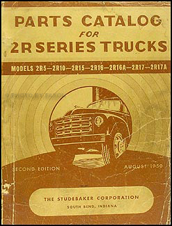 1949-1950 Studebaker Truck Parts Book Original 2R5 2R10 2R15 2R16 2R17