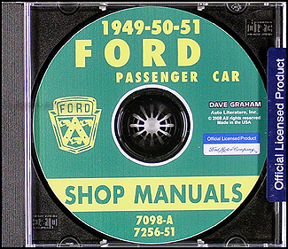 1949-1950-1951 Ford Car CD-ROM Shop Manual & FordOMatic Manual