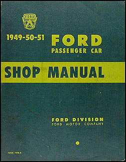 1949-1951 Ford Car Shop Manual Original