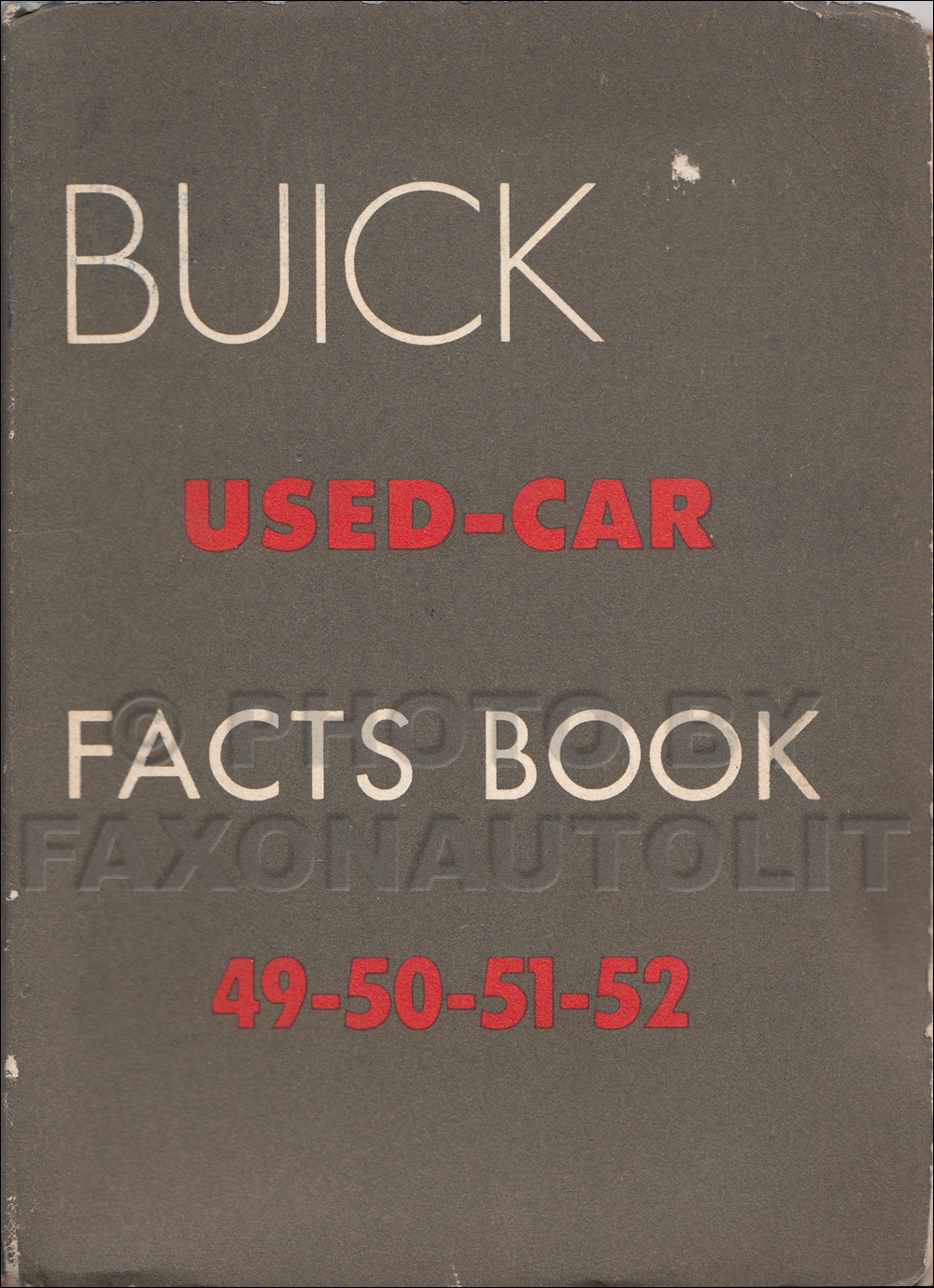 1949-1952 Buick Used Car Facts Book Original