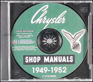 1949-1952 Chrysler CD-ROM Shop Manual