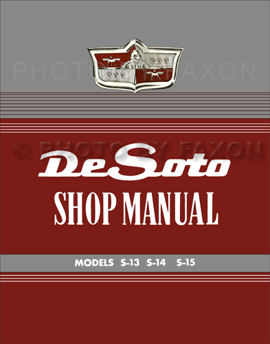 1949-1952 DeSoto De Soto Shop Manual Reprint