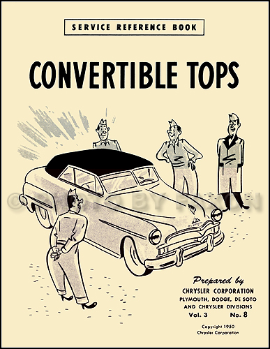 1949-1952 Mopar Convertible Top Training Manual Reprint