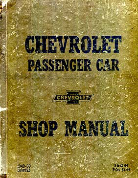 1949-1953 Chevrolet Car Shop Manual Original