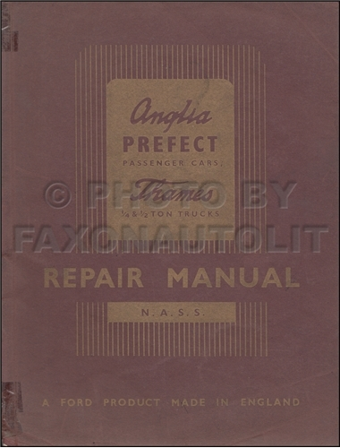 1949-1953 Ford Repair Shop Manual Original Anglia Prefect Thames