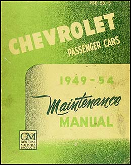 1949-1954 Chevrolet Car CANADIAN Shop Manual Original