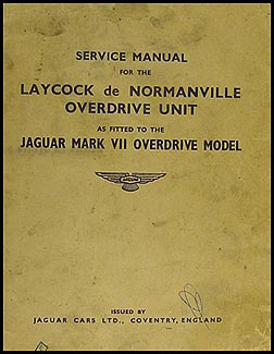 1949-1954 Jaguar Mark VII Overdrive Repair Shop Manual Original Supplement