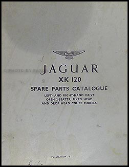 1949-1954 Jaguar XK120 Parts Book Original