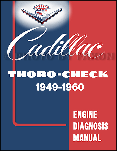 1949-1960 Cadillac Engine Diagnosis Manual Reprint