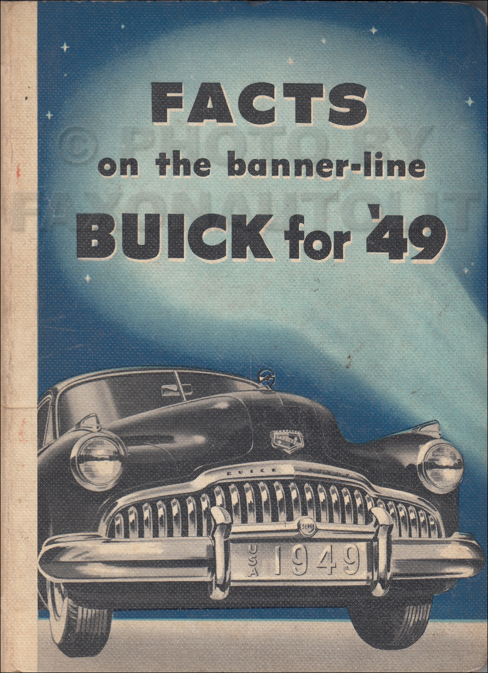 1949 Buick Super and Roadmaster Facts Book Original