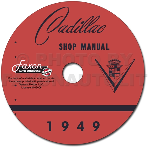 1949 Cadillac Shop Manual on CD-ROM for all models 49