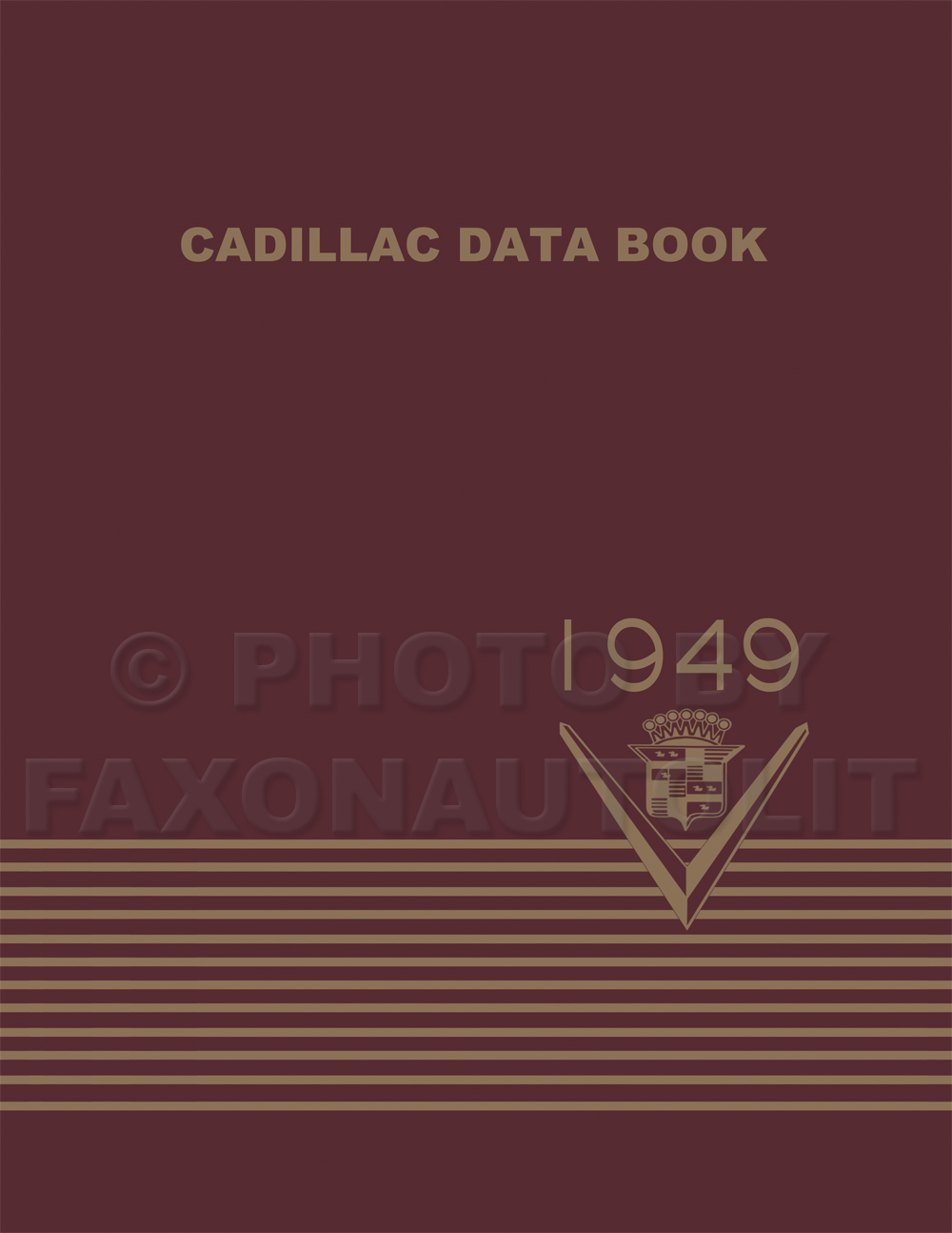 1949 Cadillac Data Book Reprint