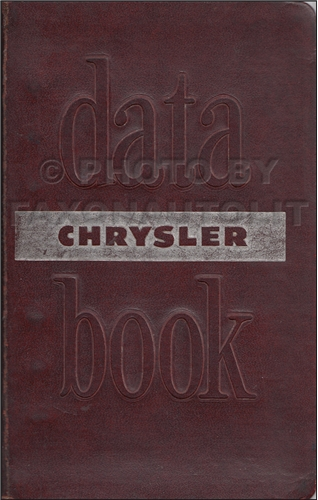 1949 Chrysler Data Book Original