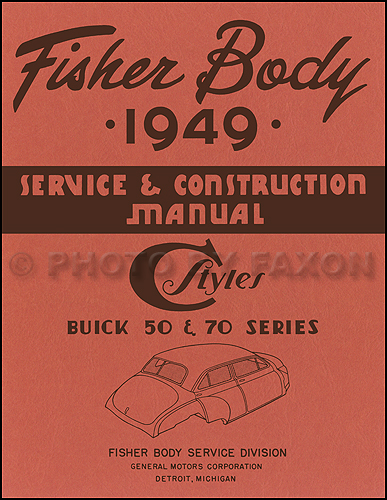 1949 Buick Reprint Body Repair Manual (50 & 70)