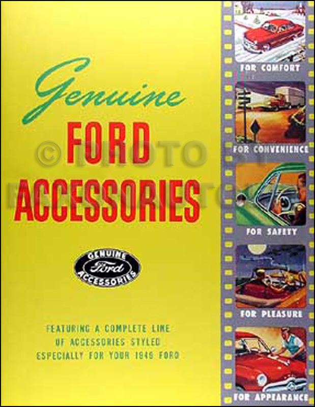 1949 Ford Car Pickup Truck Accessories Catalog Illustrated Reprint