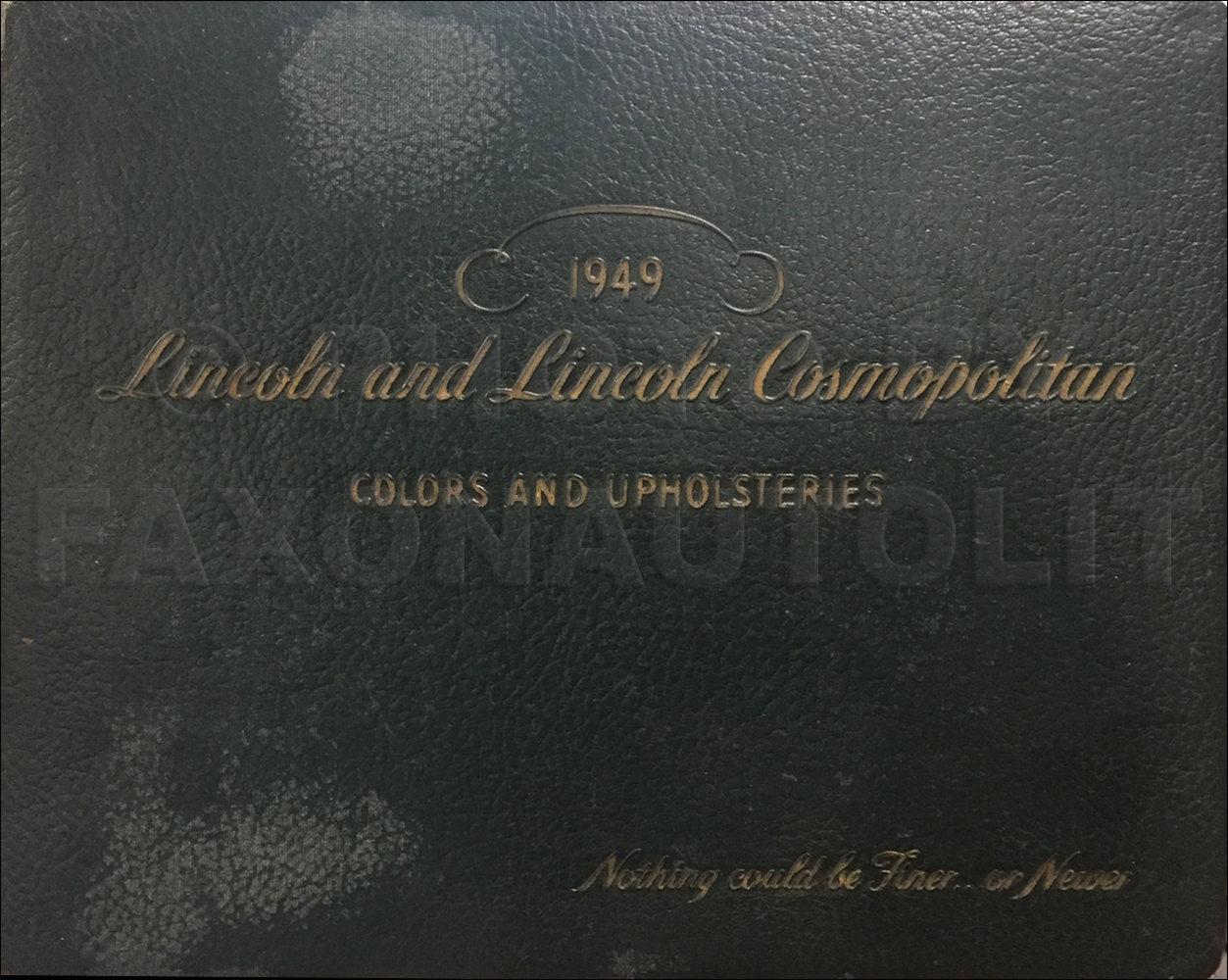 1949 Lincoln Color and Upholstery Dealer Album