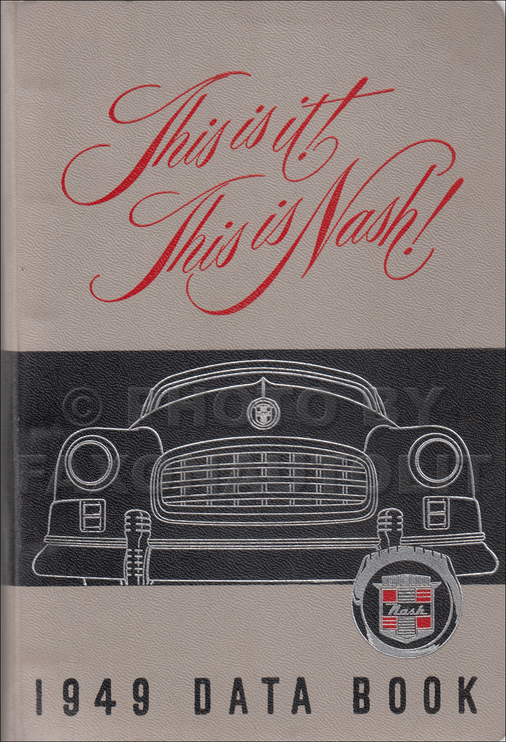 1949 Nash Data Book Original