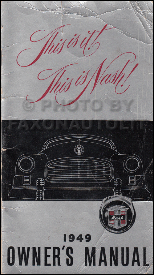 1949 Nash Ambassador Owner's Manual Original