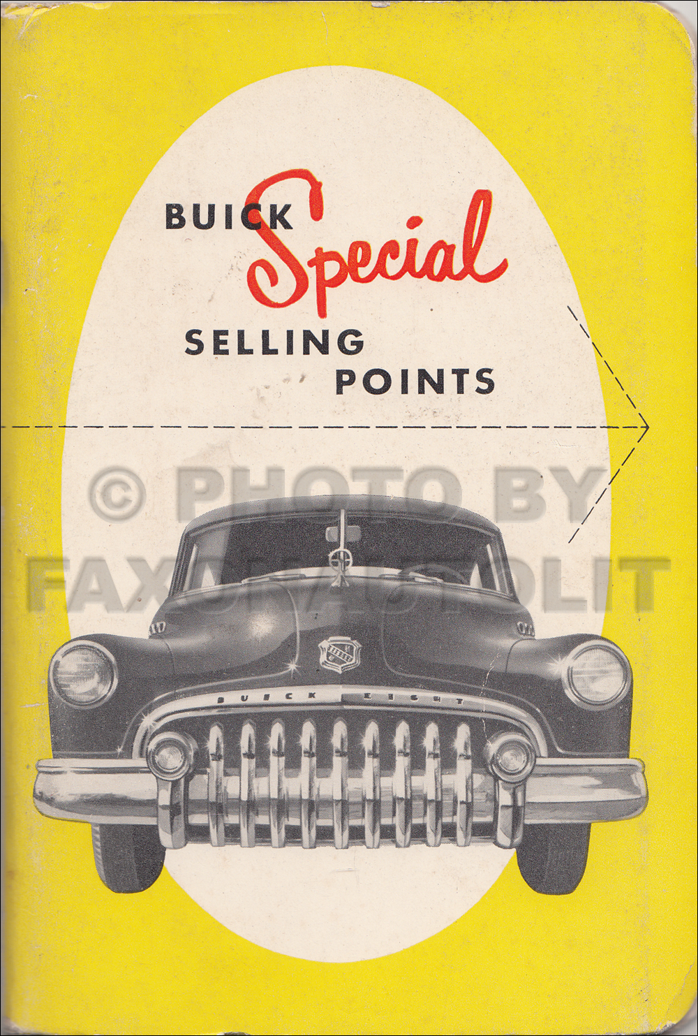 1949 1/2 Buick Special Data Book Original