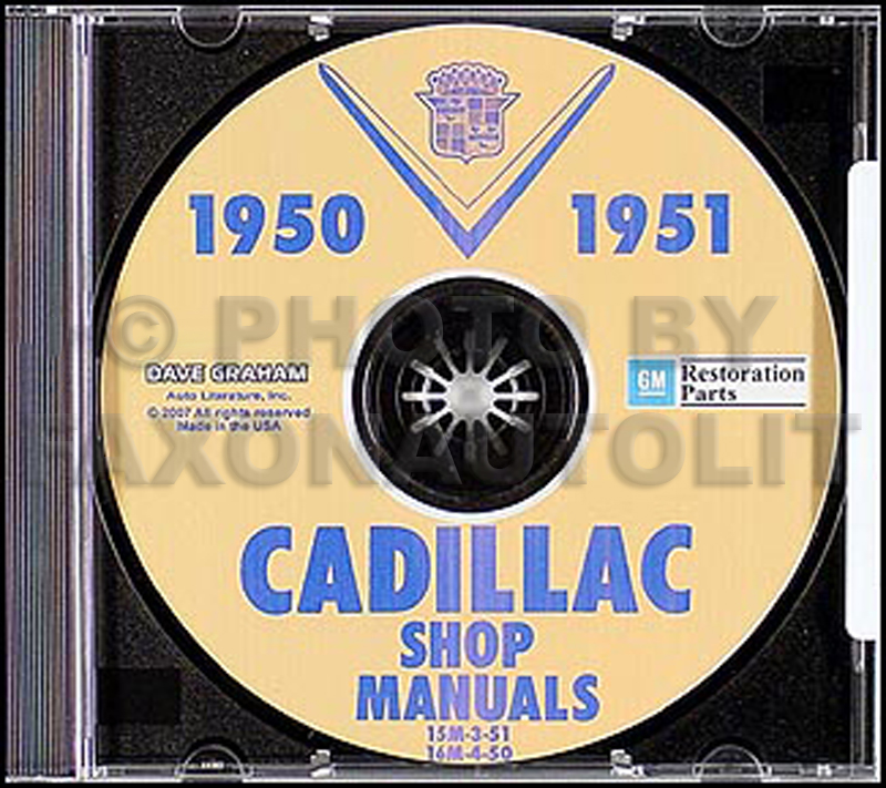 1950-1951 Cadillac Shop Manuals on CD-ROM for all models 50-51