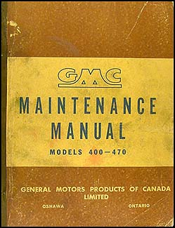 1950-1951 GMC 400-470 CANADIAN Repair Manual Original