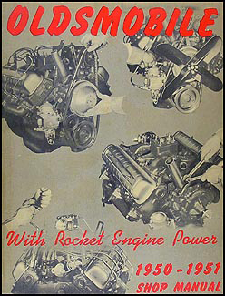 1950-1951 Oldsmobile Repair Manual Original