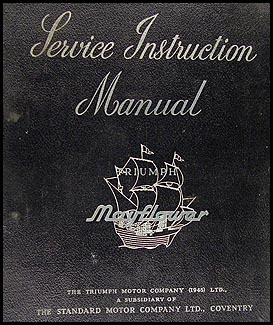 1950-1951 Triumph Mayflower Repair Manual Original