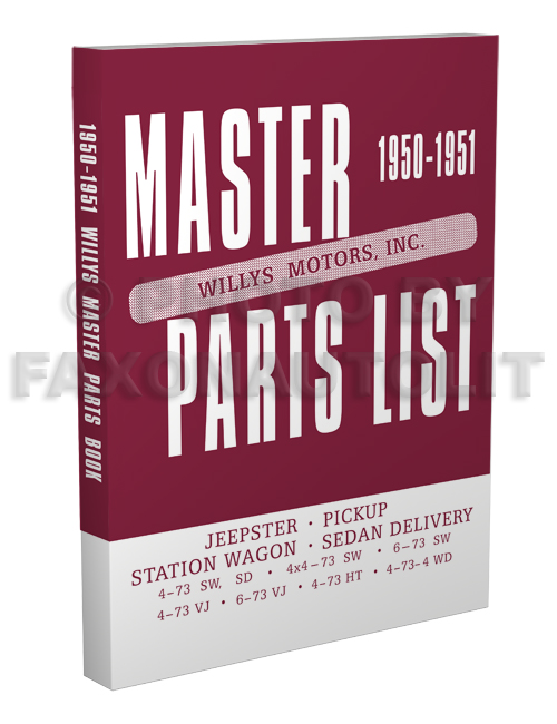 1950-1951 Willys Master Parts Book Reprint