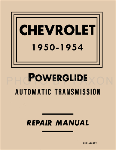 1950-1953 Chevy Powerglide Automatic Transmission Manual Reprint