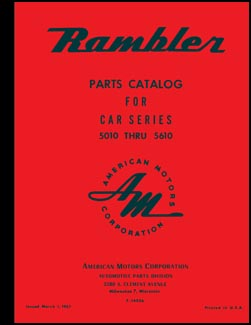 1950-1956 Rambler Illusrated Master Parts Catalog Reprint