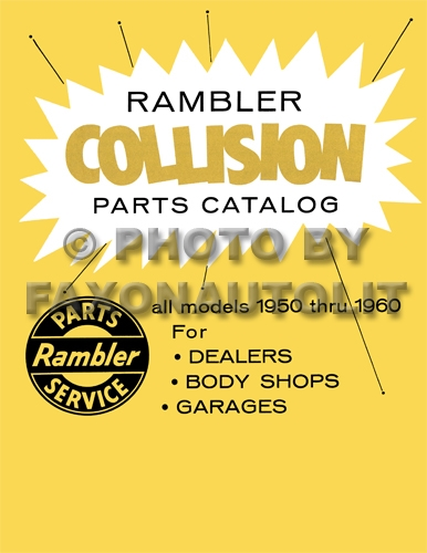 1950-1960 Rambler Body Collision Parts Catalog Reprint