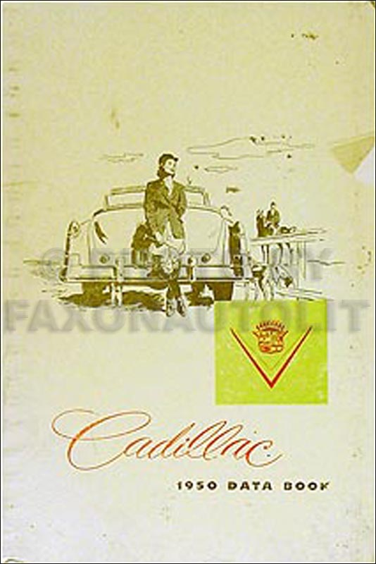 1950 Cadillac Data Book Original